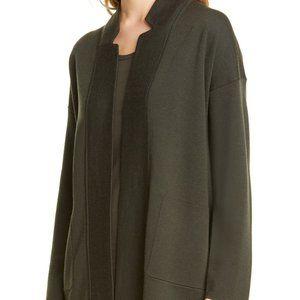 NEW Eileen Fisher Large Notch Collar Cardigan